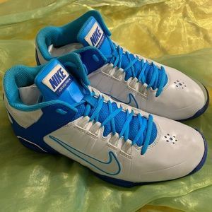 Nike Air Visi Pro 4 IV White/Blue Basketball Shoes